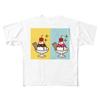 2×アイスクリーム Full graphic T-shirts