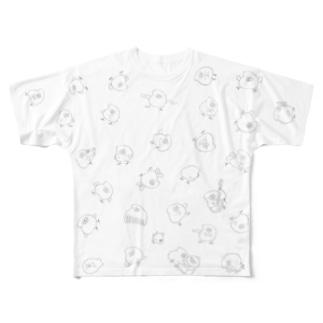 とりもちうじゃうじゃ Full graphic T-shirts