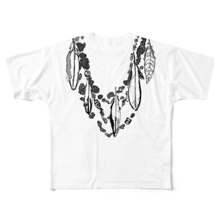 FJI-KAORUのオシャレにおめかし♪〜ブラック〜☆レディース☆ Full graphic T-shirts