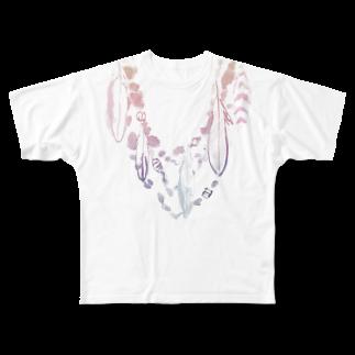 FJI-KAORUのオシャレにおめかし♪〜桜〜 Full graphic T-shirts