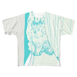 月光浴CAT Full graphic T-shirts