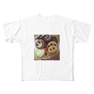 happysmile♡ Full graphic T-shirts