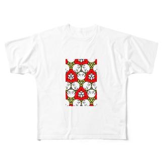 キモカワ模様 Full graphic T-shirts