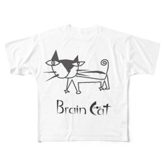 しなやかな猫 Full graphic T-shirts