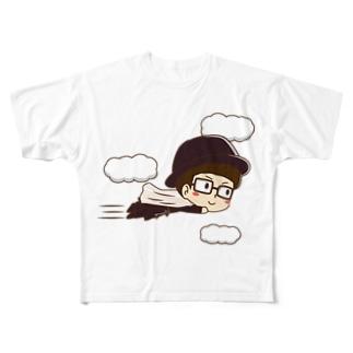 カーテンマンJr.(ピューン)のフルグラフィックTシャツ Full graphic T-shirts