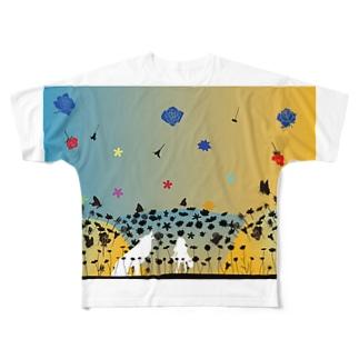白と黒の幻想物語 Full graphic T-shirts