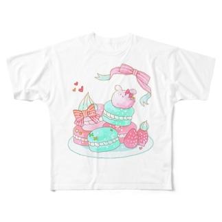 うさぎマカロン Full graphic T-shirts