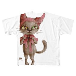 猫頭巾 Full graphic T-shirts