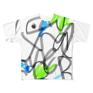 さかなロゴ Zatsu Full graphic T-shirts