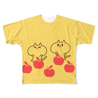 さてまろ(りんご) Full graphic T-shirts