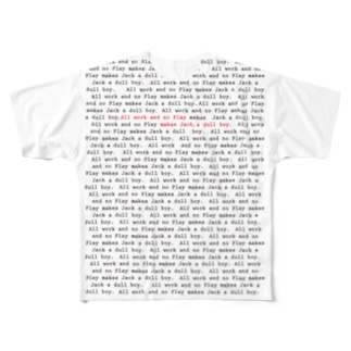 All work and no play makes jack a dull boy.  Full graphic T-shirts
