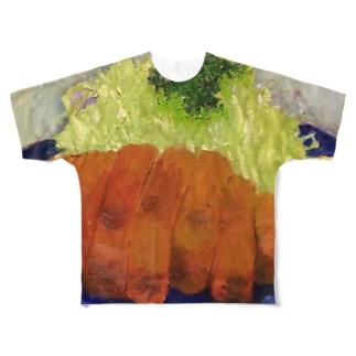 とんかつ Full graphic T-shirts