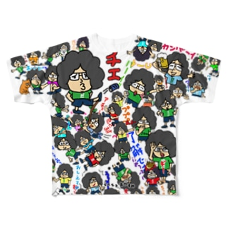原専 総柄 Full graphic T-shirts