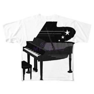 Piano Full graphic T-shirts