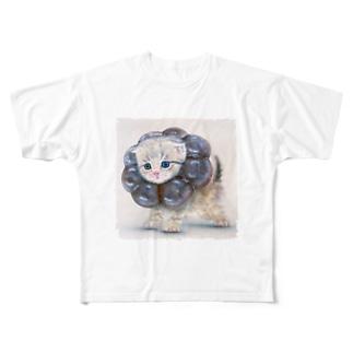 萌獣 猫 ポンデニャイオン:ショコラ Full graphic T-shirts