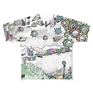 うたう Full graphic T-shirts
