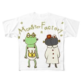 ねこぜや のモンスター工場🏭 KとD Full graphic T-shirts