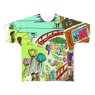 ほや酔明 Full graphic T-shirts