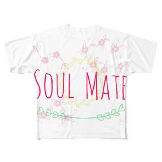 SOUL MATE Full graphic T-shirts