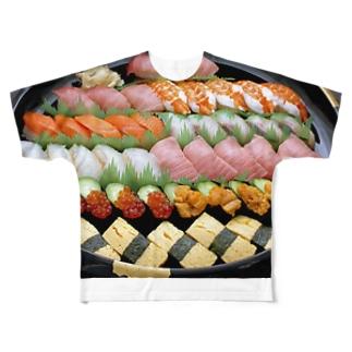 特上寿司Tシャツ!! Full graphic T-shirts