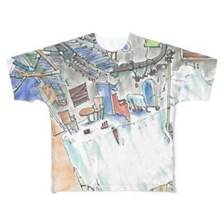 小野寺製作所二号店のシーツ Full graphic T-shirts