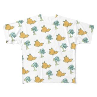 kumao(さまーver.) Full graphic T-shirts