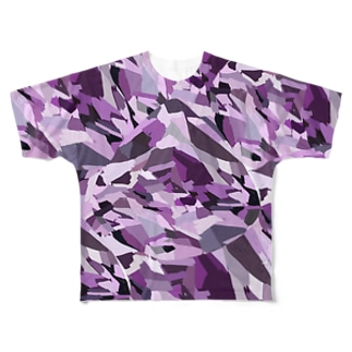 abstract Full graphic T-shirts