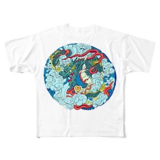 浅草雷門の龍 Full graphic T-shirts