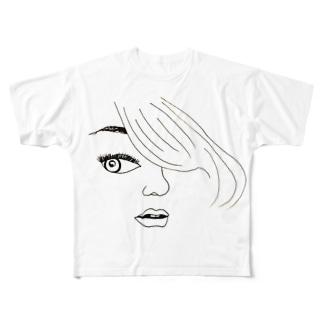 sidelong glance♡ Full graphic T-shirts