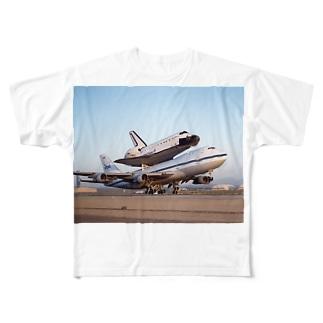 スペースシャトル&ボーイング747改 Full graphic T-shirts
