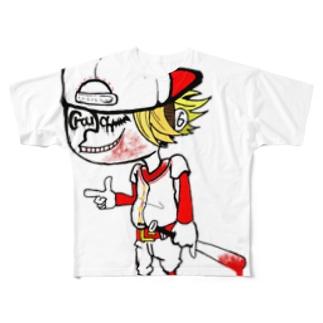 #X4 Crouch フランクTシャツ Full graphic T-shirts