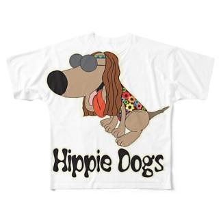 デカプリント Full graphic T-shirts