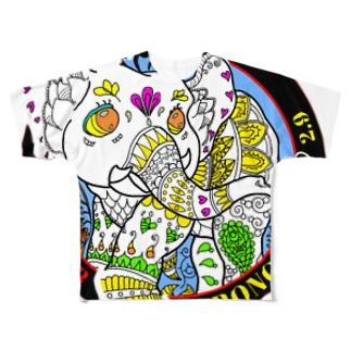 ストロングエレファントマーク2 Full graphic T-shirts