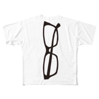 でかいでかい!メガネでかい! Full graphic T-shirts