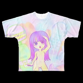temetenのトイ ガール Full graphic T-shirts
