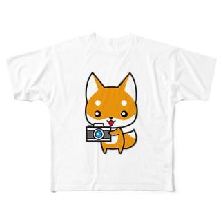 コンちゃん Full graphic T-shirts