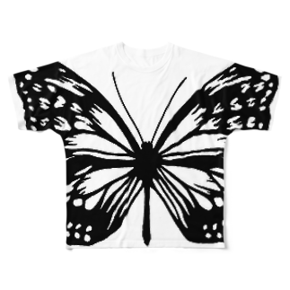 裏トロイメライの超でかい蝶 Full graphic T-shirts