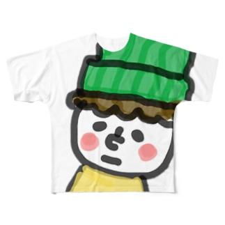 顔の白い小さき人 Full graphic T-shirts