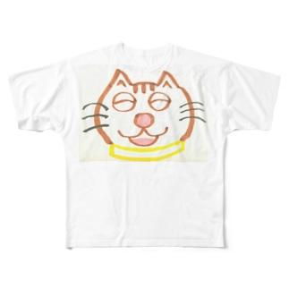 山本マロン(茶トラの猫) Full graphic T-shirts