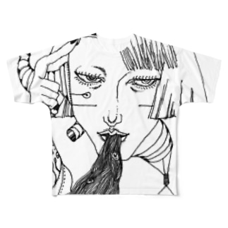 ペン画シリーズ*001 Full graphic T-shirts