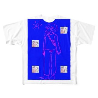 私と先生の短い夏休み Full graphic T-shirts