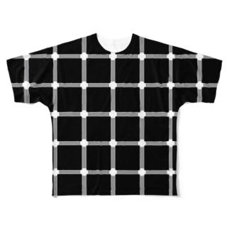 不思議!?点がチカチカするTシャツ Full graphic T-shirts