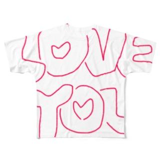 ゆるゆるらぶゆー Full graphic T-shirts