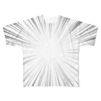 俺に集中!!集中線Tシャツ Full graphic T-shirts