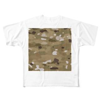 MILITARY DESSERT-TYPE Full graphic T-shirts