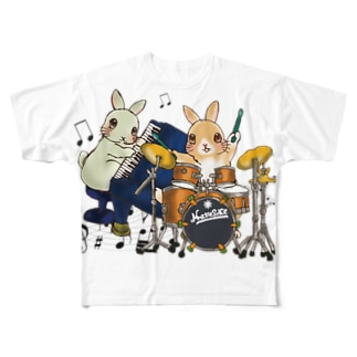 うさぎユニット♪ Full graphic T-shirts