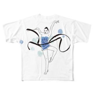 SprayDressのリボンクール女子 Full graphic T-shirts