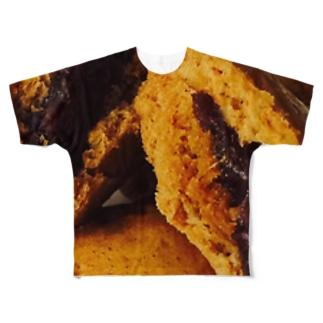 黒糖饅頭 Full graphic T-shirts