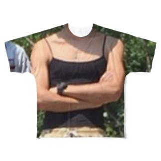 場所取りの守護神アテラちゃん Full graphic T-shirts