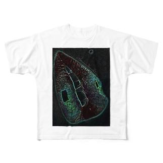 Green Rip Full graphic T-shirts